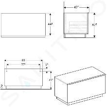 Geberit iCon - Mobiletto laterale 890x472 mm con cassetto, quercia al naturale 841092000