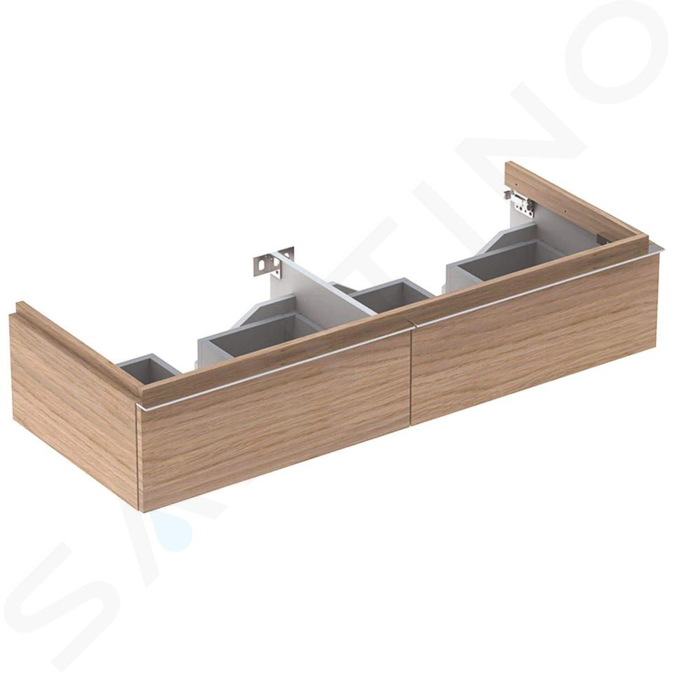 Geberit iCon - Meuble sous double lavabo 1200 mm, 2 tiroirs, chêne naturel 841222000
