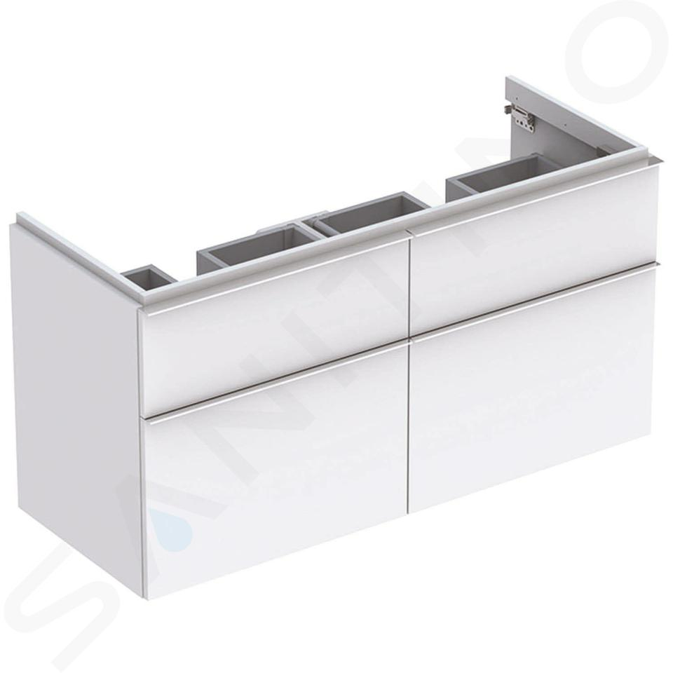 Geberit iCon - Meuble sous double lavabo 1200 mm, 4 tiroirs, blanc mat 841520000