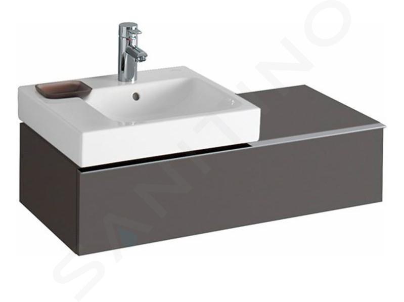 Geberit iCon - Waschtischunterschrank 500 mm mit Ablagefläche, lava 841491000
