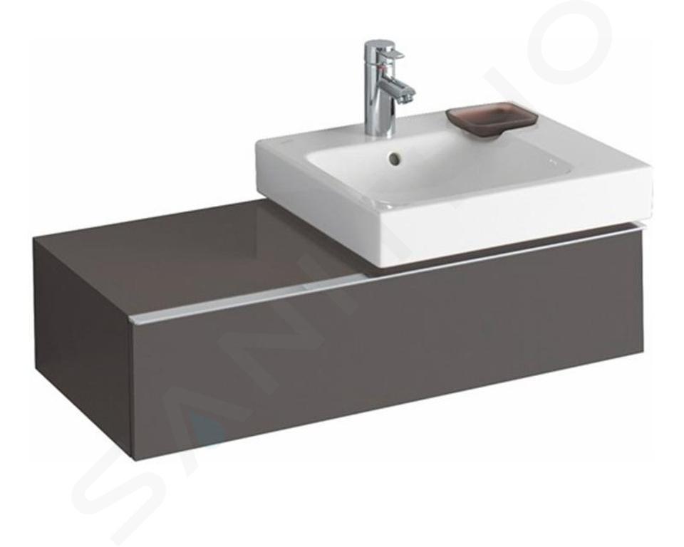 Geberit iCon - Waschtischunterschrank 500 mm mit Ablagefläche, lava 841591000