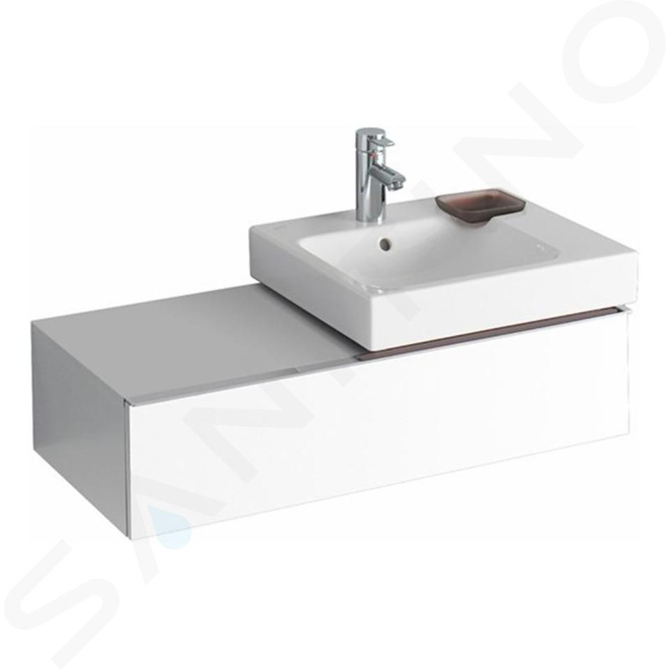 Geberit iCon - Meuble sous lavabo 500 mm avec plage de dépose, blanc mat 841590000
