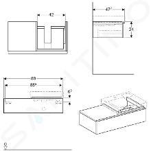 Geberit iCon - Waschtischunterschrank 500 mm mit Ablagefläche, Eiche natur 841592000