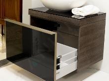 Geberit Citterio - Mobile sottolavabo 560 mm da appoggio, nero lucido/quercia grigio-marrone 500.558.JJ.1