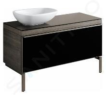 Geberit Citterio - Meuble bas pour vasque à poser 560 mm, noir poli/chêne gris brun 500.561.JJ.1