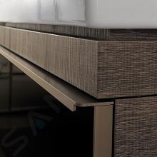 Geberit Citterio - Unterschrank für Aufsatzwaschtisch 560 mm, schwarz glänzend / graubraun Eiche 500.561.JJ.1