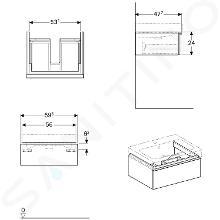Geberit iCon - Meuble sous lavabo 600 mm, lave 841261000