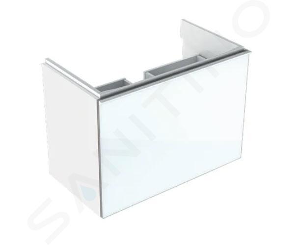 Geberit Acanto - Waschtischunterschrank 600 mm, weiß glänzend 500.614.01.2