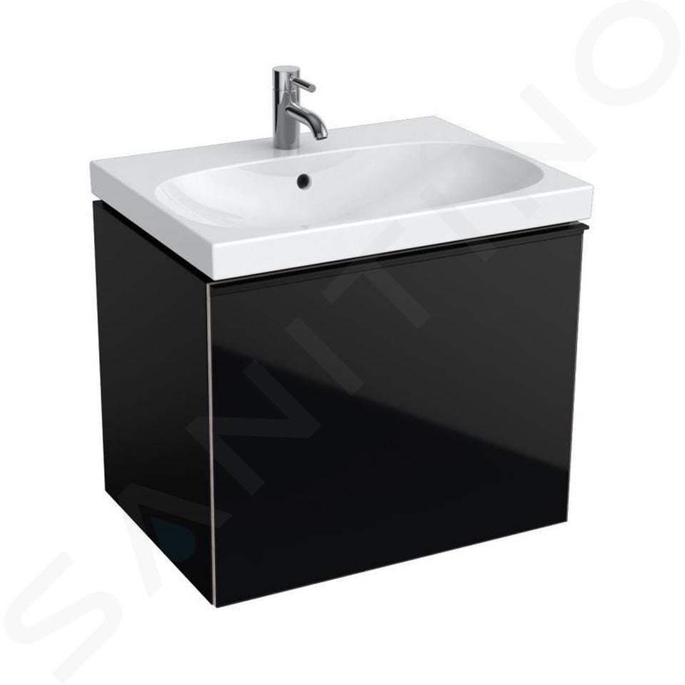 Geberit Acanto - Wastafelonderkast 650 mm, zwart 500.610.16.1
