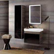 Geberit Citterio - Waschtischunterschrank 750 mm, schwarz glänzend / graubraun Eiche 500.557.JJ.1
