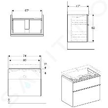 Geberit iCon - Waschtischunterschrank 750 mm, weißmatt 841375000