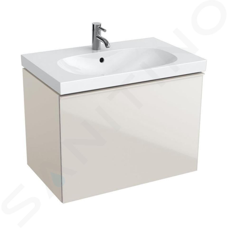 Geberit Acanto - Waschtischunterschrank 750 mm, sandgrau 500.611.JL.2