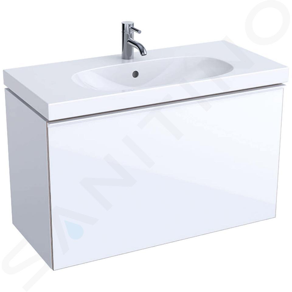 Geberit Acanto - Waschtischunterschrank 900 mm, weiß glänzend 500.616.01.2