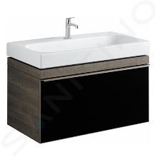 Geberit Citterio - Meuble sous lavabo 900 mmm, noir poli/chêne gris brun 500.559.JJ.1