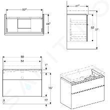 Geberit iCon - Waschtischunterschrank 900 mm, weißmatt 841390000