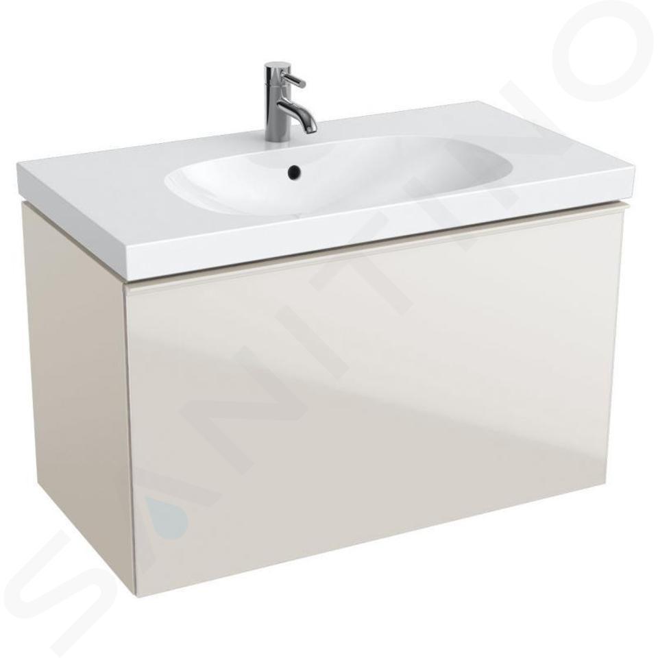 Geberit Acanto - Waschtischunterschrank 900 mm, sandgrau 500.612.JL.2