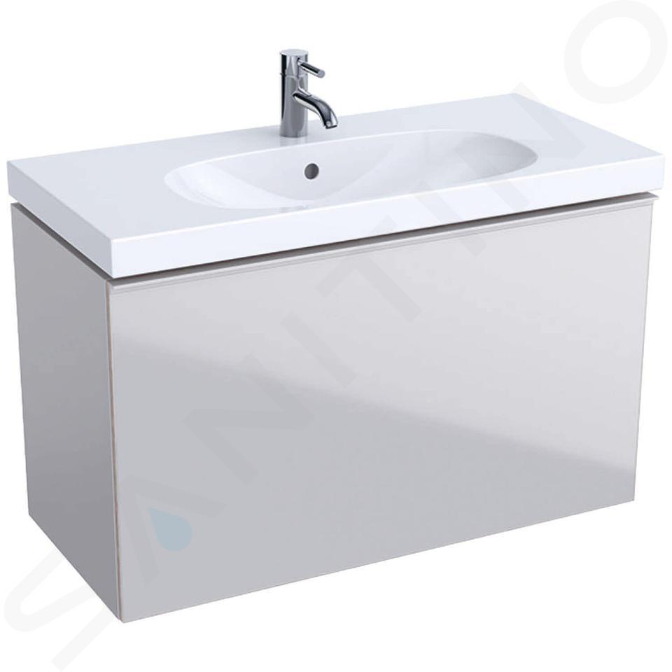 Geberit Acanto - Waschtischunterschrank 900 mm, sandgrau 500.616.JL.2