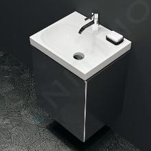 Geberit Acanto - Meuble sous lave-mains 400 mm, noir 500.607.16.1
