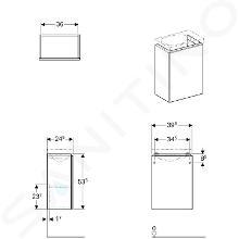 Geberit Acanto - Unterschrank für Handwaschbecken 400 mm, weiß glänzend 500.607.01.2