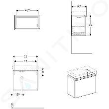 Geberit iCon - Unterschrank für Handwaschbecken 530 mm, weißmatt 841052000