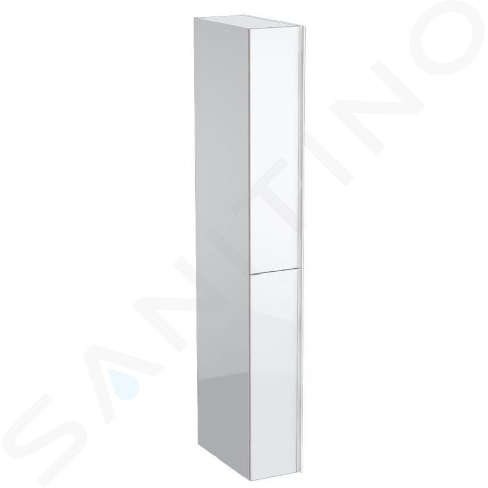 Geberit Acanto - Colonne haute 1730x220 mm, deux tiroirs, blanc poli 500.638.01.2