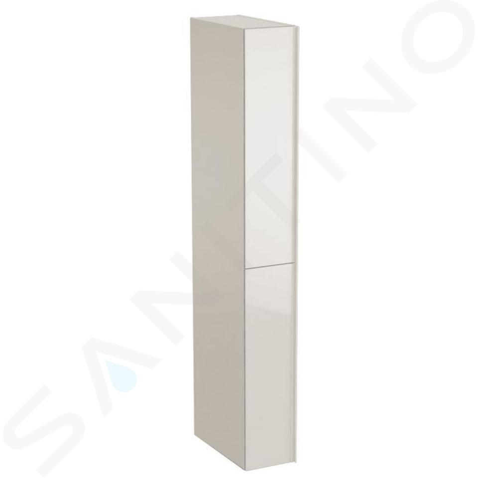 Geberit Acanto - Hoge badkamerkast 1730x220 mm, met 2 laden, zand grijs 500.638.JL.2