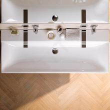 Geberit Xeno 2 - Wastafel 1200x480 mm, zonder kraangat, zonder overloop, KeraTect, wit 500.552.01.1
