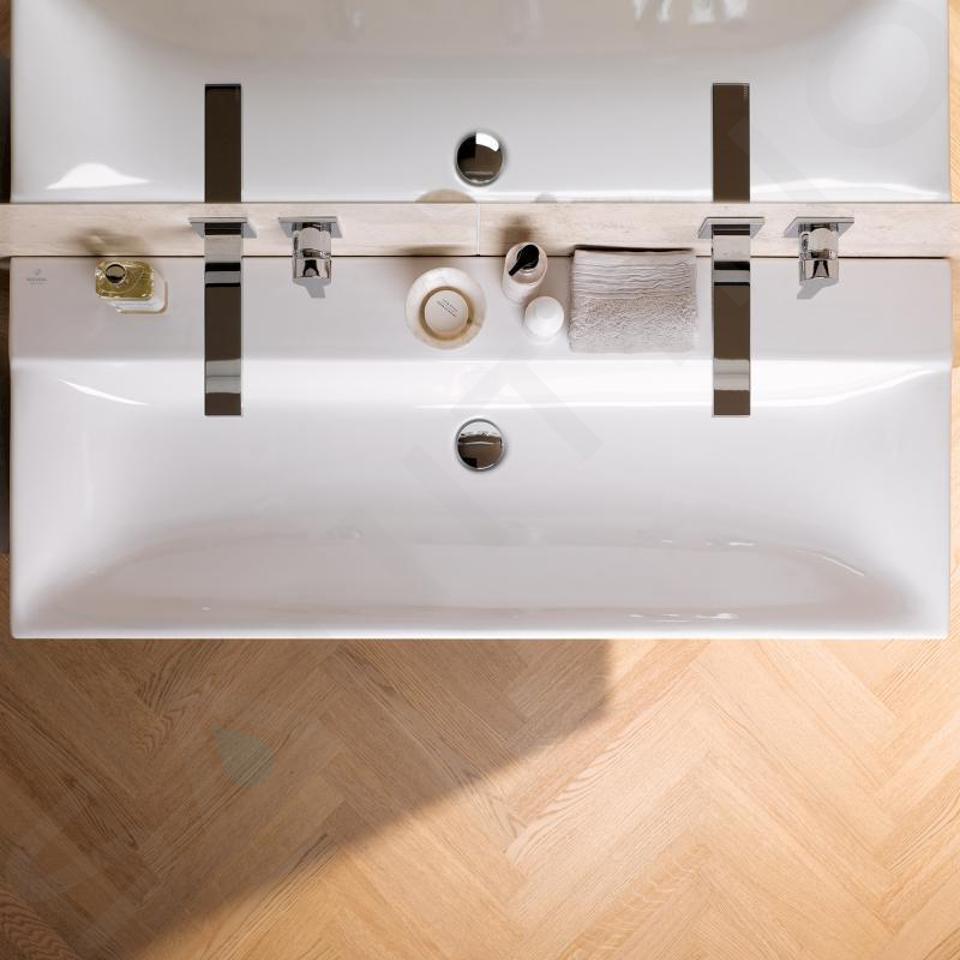Geberit Xeno 2 - Lavabo 1200x480 mm, sans trou, sans trop-plein, avec KeraTect, blanc 500.552.01.1