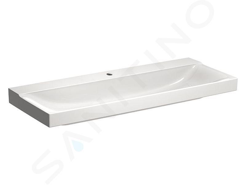 Geberit Xeno 2 - Wastafel 1200x480 mm, met kraangat, zonder overloop KeraTect, wit 500.551.01.1