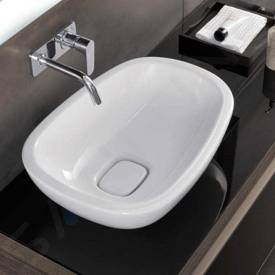 Geberit Citterio - Vasque 560x400 mm, sans trop-plein, avec KeraTect, blanc 500.542.01.1