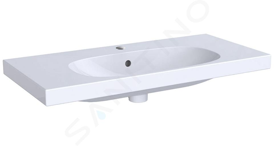Geberit Acanto - Lavabo 900x422 mm, avec 1 trou, avec trop-plein, avec KeraTect, blanc 500.633.01.8