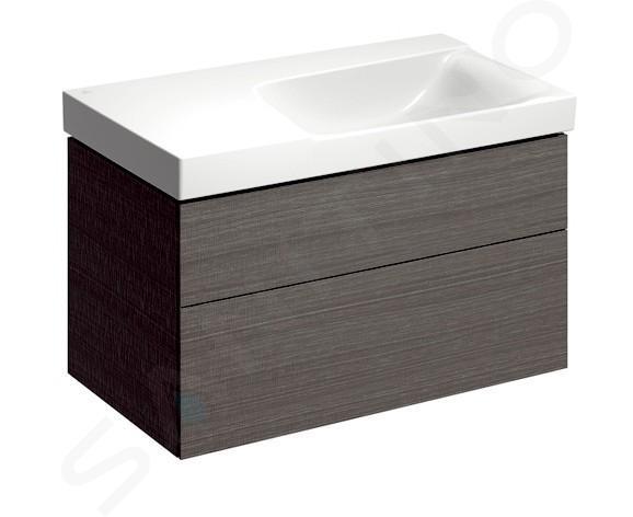 Geberit Xeno 2 - Waschtisch 900x480 mm, ohne Hahnloch und Überlauf, mit Ablagefläche links, mit KeraTect, weiß 500.536.01.1