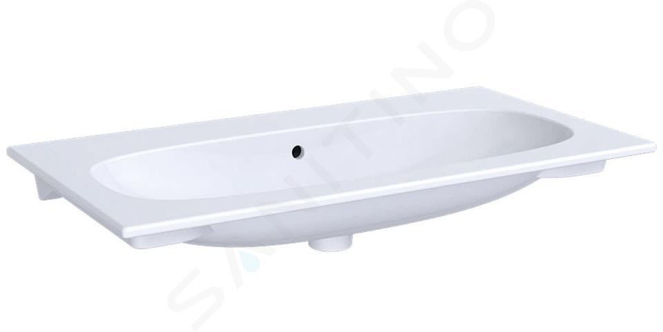 Geberit Acanto - Waschtisch 900x480 mm, ohne Hahnloch, mit Überlauf, weiß 500.643.01.2