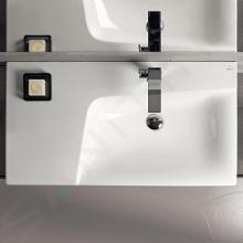 Geberit Xeno 2 - Waschtisch 900x480 mm, ohne Hahnloch und Überlauf, mit Ablagefläche links, mit KeraTect, weiß 500.535.01.1