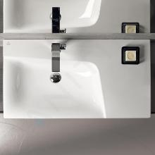 Geberit Xeno 2 - Wastafel 900x480 mm, met kraangat, zonder overloop met bijzetplank rechts, KeraTect, wit 500.533.01.1