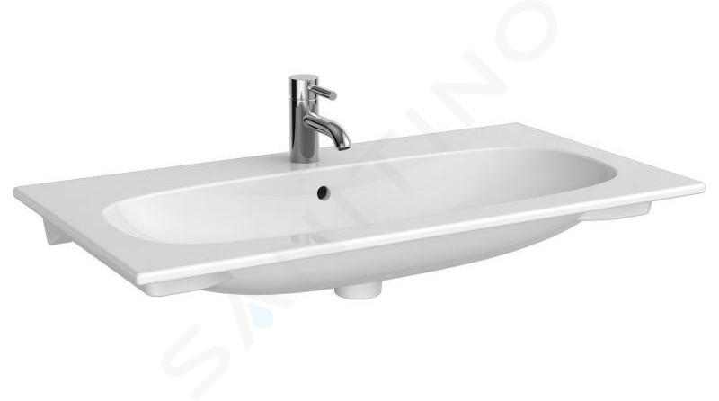 Geberit Acanto - Waschtisch 900x480 mm, mit Hahnloch und Überlauf, weiß 500.642.01.2