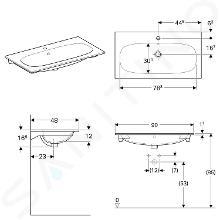 Geberit Acanto - Waschtisch 900x480 mm, mit Hahnloch und Überlauf, mit KeraTect, weiß 500.642.01.8