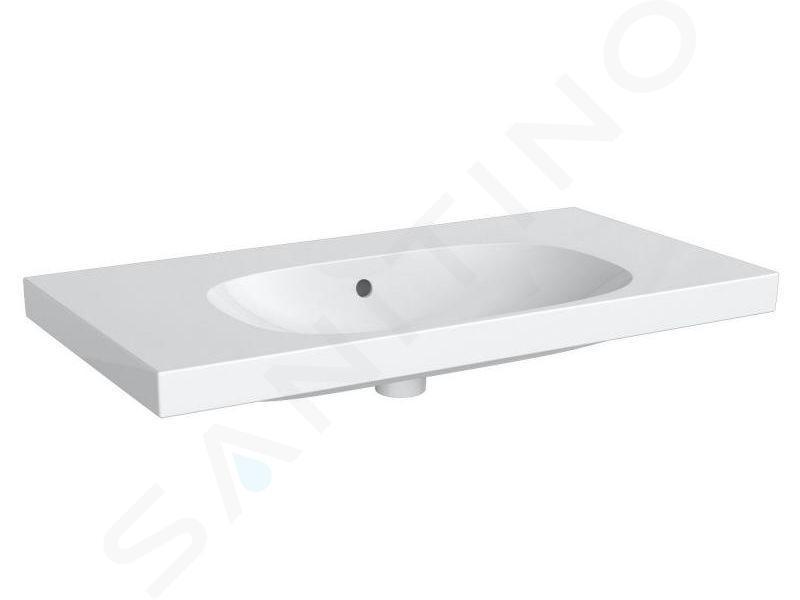 Geberit Acanto - Lavabo 900x482 mm, sans trou, avec trop-plein, blanc 500.624.01.2