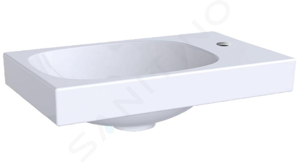 Geberit Acanto - Fontein 400x250 mm, kraangat rechts, zonder overloop, wit 500.635.01.2