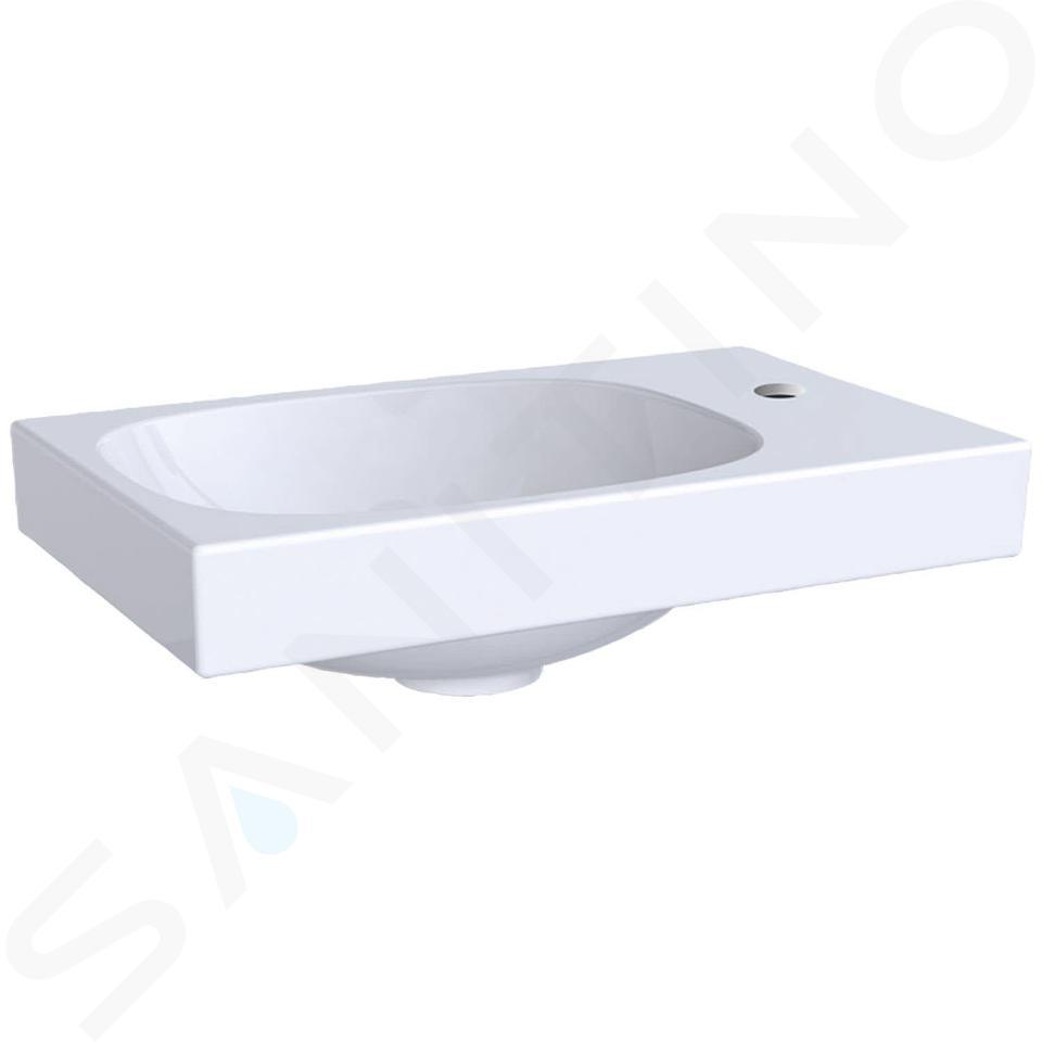 Geberit Acanto - Handwaschbecken 400x250 mm, mit Hahnloch rechts, ohne Überlauf, mit KeraTect, weiß 500.635.01.8