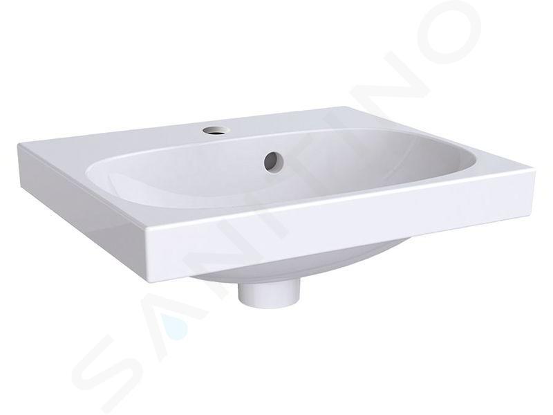Geberit Acanto - Lavamani 450x380 mm, foro per miscelatore, con troppopieno, bianco 500.636.01.2
