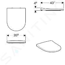 Geberit Acanto - Abattant WC, duroplast, blanc 500.604.01.2