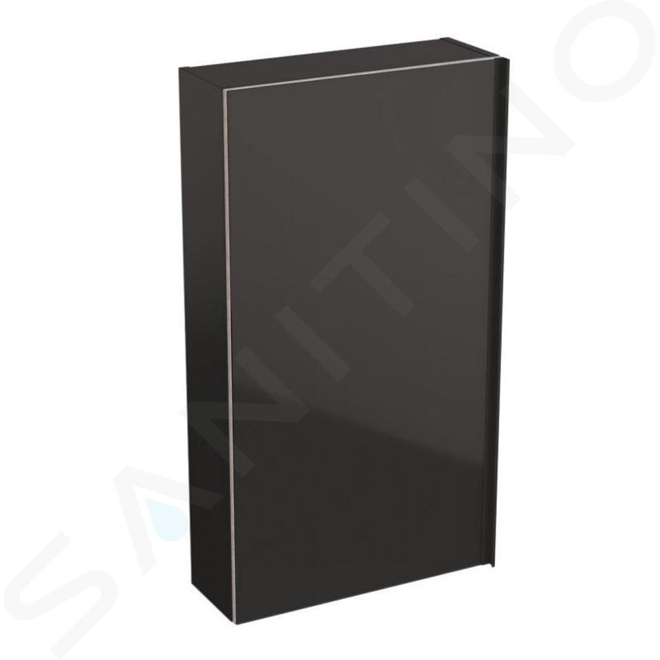 Geberit Acanto - Hängeschrank 450x820 mm, mit Spiegel an Türinnenseite, lava 500.639.JK.2