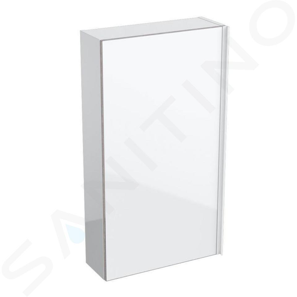 Geberit Acanto - Hängeschrank 450x820 mm, mit Spiegel an Türinnenseite, weiß glänzend 500.639.01.2