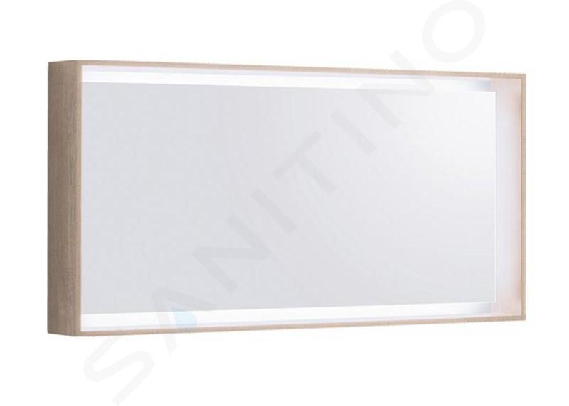 Geberit Citterio - Specchio 1184x584 mm con illuminazione LED, quercia beige 500.570.JI.1