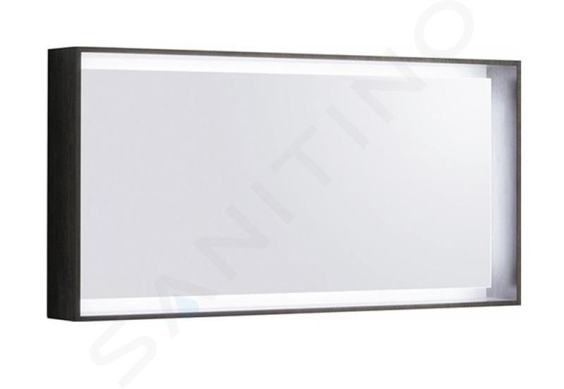 Geberit Citterio - Spiegel met LED verlichting 1184x584 mm, eik grijsbruin 500.570.JJ.1