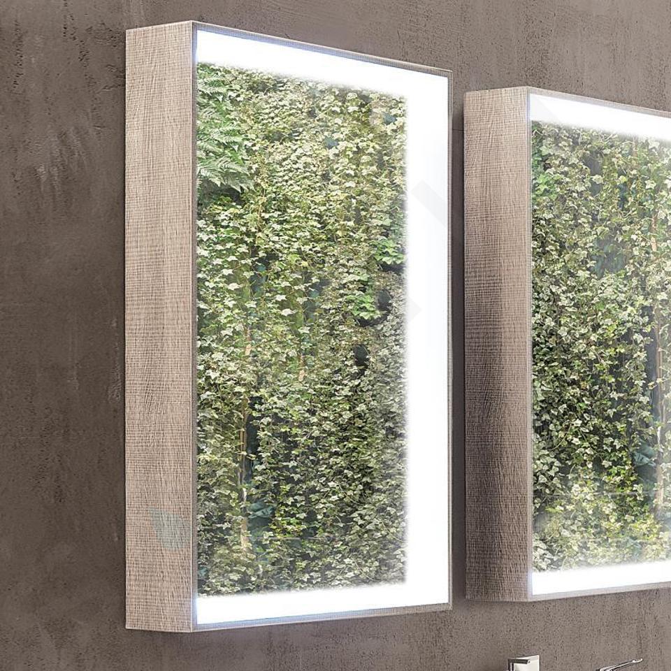 Geberit Citterio - Miroir 884x584 mm avec éclairage LED, chêne beige 500.572.JI.1