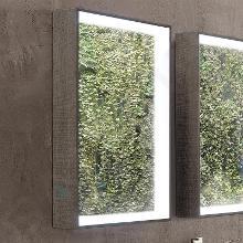 Geberit Citterio - Miroir 884x584 mm avec éclairage LED, chêne gris brun 500.572.JJ.1