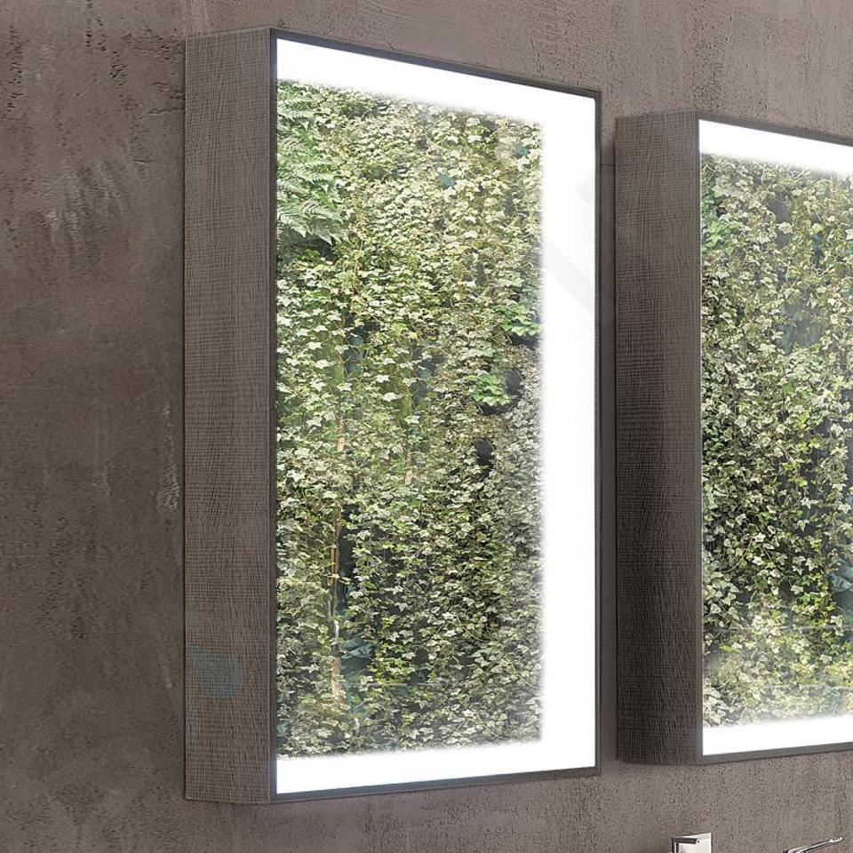 Geberit Citterio - Spiegel 884x584 mm, mit LED-Beleuchtung, Eiche graubraun 500.572.JJ.1