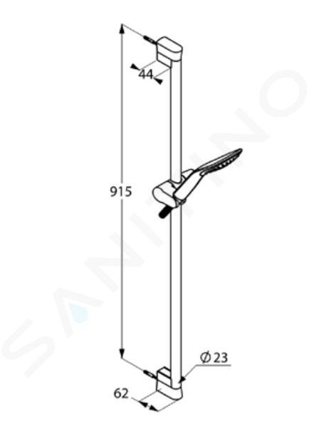Kludi Fizz - Duschkopfset mit Schlauch und Stange 900 mm, mattschwarz 6764087-00